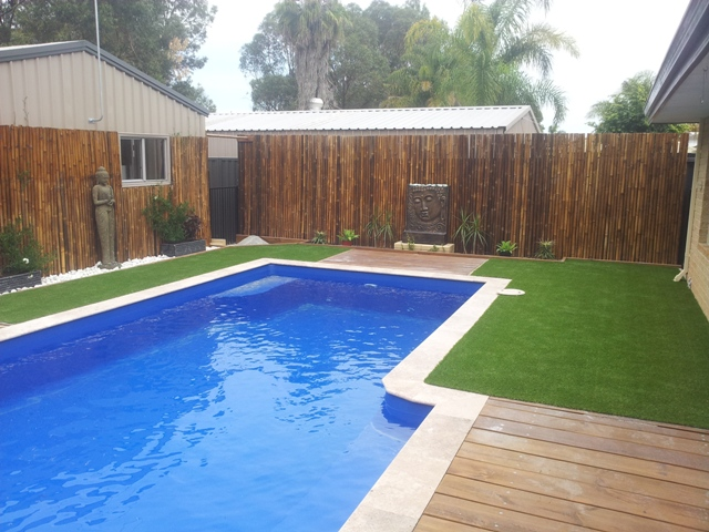 Artificial grass for perths pools area 39 s all seasons for Pool design bali