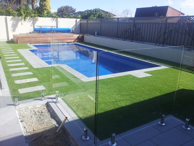 Swimming Pool Artificial Turf : Artificial grass for perths pools area s all seasons